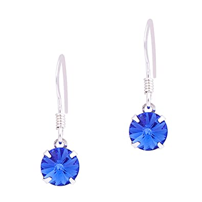 5e6e1e2de8c3b 925 Sterling Silver Earrings Made With Crystal From SWAROVSKI in ...