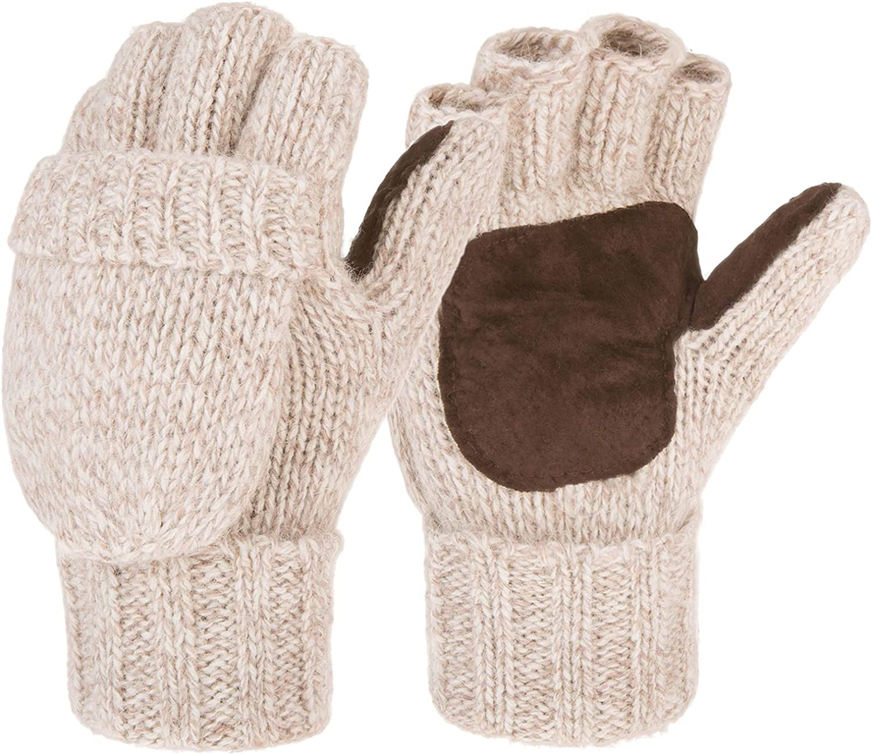 Eianru Winter Knitted Suede...