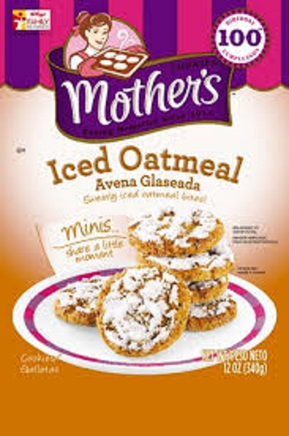 Mothers, Iced Oatmeal Cookies, 12oz Bag (Pack of ...