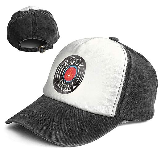 be36810aefd Amazon.com  Rock N Roll Adult Hip Hop Baseball Cap Hat Black  Clothing