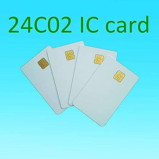 YARONGTECH Atmel 24C02 tarjeta 2K blanco Contacto de tarjeta ...