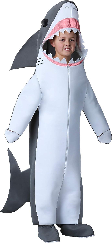 Great White Shark Costume Kids Shark Jumpsuit with Shark Face Hood