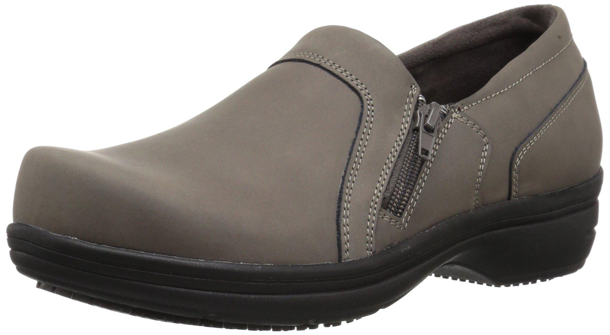Easy Works Women's Bentley Health Care Professional Shoe, Grey Nubuck, 7.5 W US