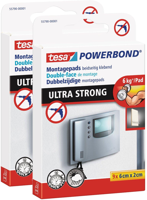 Powerbond ULTRA STRONG tesa doppelseitige Montagepads hält max 6 kg 9 Stück