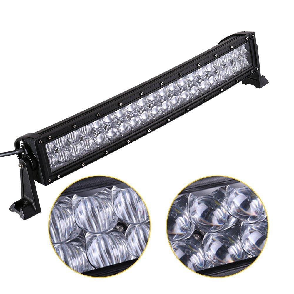 GERMANY STOCK 55, 9 cm 5D lentille optique lampe de travail 120 W LED Lumière Bar incurvé pour camion tracteur remorque 4 WD 4 x 4 Bateau SUV ATV Larcolais