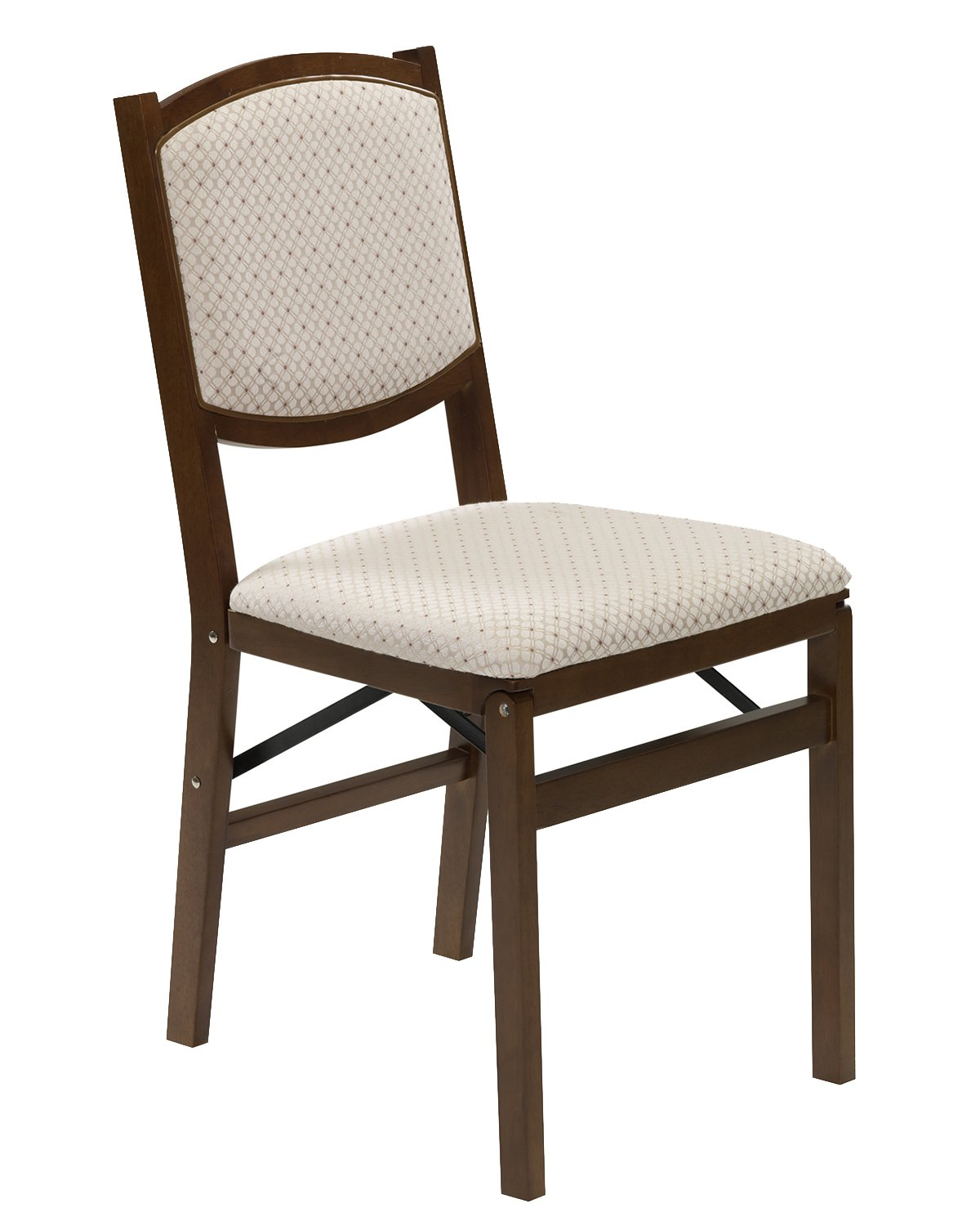 Stakmore Contemporary Upholstered Back Folding Chair Finish, Set of 2, Fruitwood by MECO