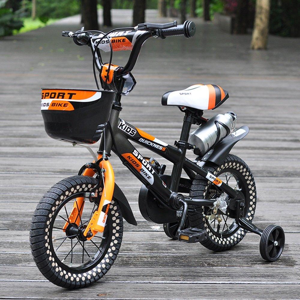 HAIZHEN マウンテンバイク 子供用自転車 グリーンオレンジ サイズ:12インチ、14インチ、16インチ、18インチ アウトドアアウト 新生児 B07CCJZR2C 14 inch|オレンジ オレンジ 14 inch