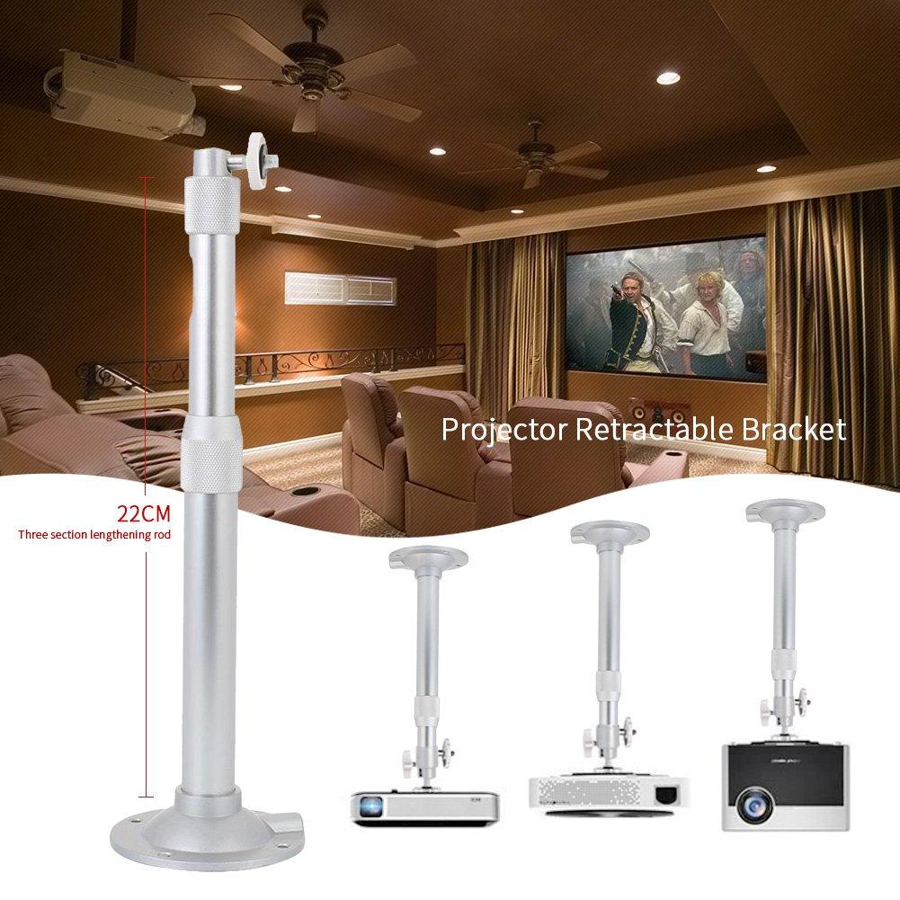 Hanbaili Soporte para colgar proyector, proyector de video extensible Soporte para montaje en techo / pared con altura ajustable Se adapta a la mayorí a de las marcas de proyectores Cewaal