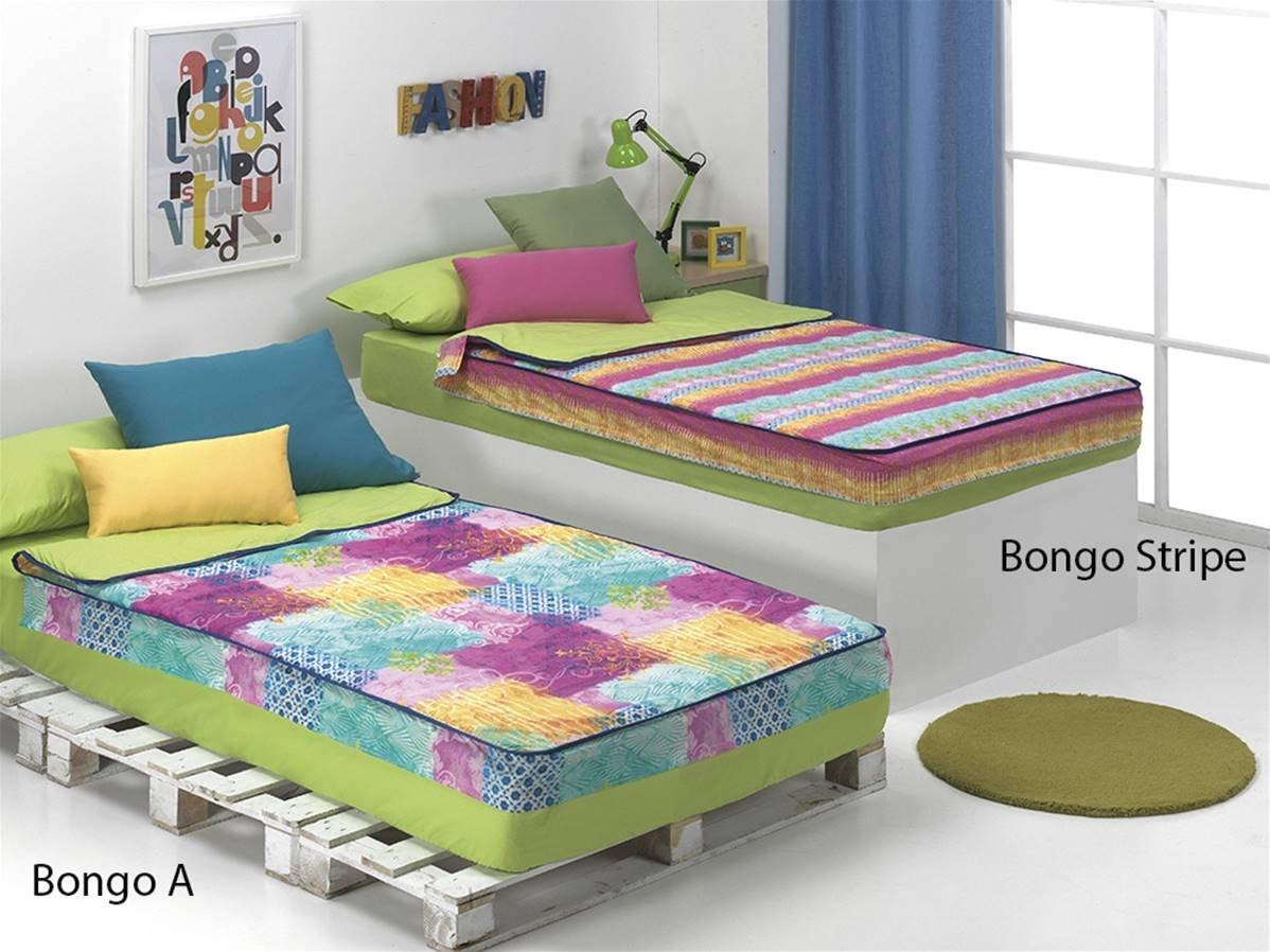 CAÑETE - Saco nórdico Bongo Stripe Cama 105 - Color Fucsia con Relleno: Amazon.es: Hogar