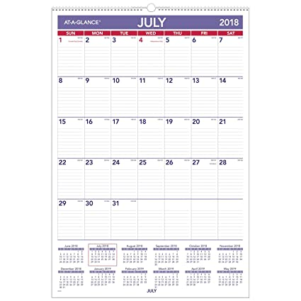 at a glance 2018 2019 academic year wall calendar large 15
