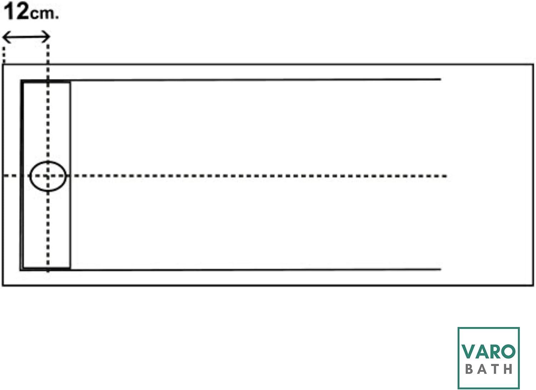Todas las Medidas Disponibles 120X80, Arena Calidad PREMIUM Cargas Minerales de /Última Generaci/ón- Textura pizarra Plato de ducha VAROBATH de Resina antideslizante y antibacteriano