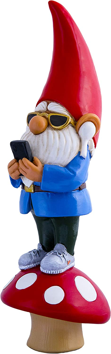 """Neek Nacks Millennial Garden Gnome with Earbuds 10"""" Statue, Indoor & Outdoor Lawn Figurine for Home & Office – Fun & Unique Christmas Sculpture - A Perfect Gag Gift"""
