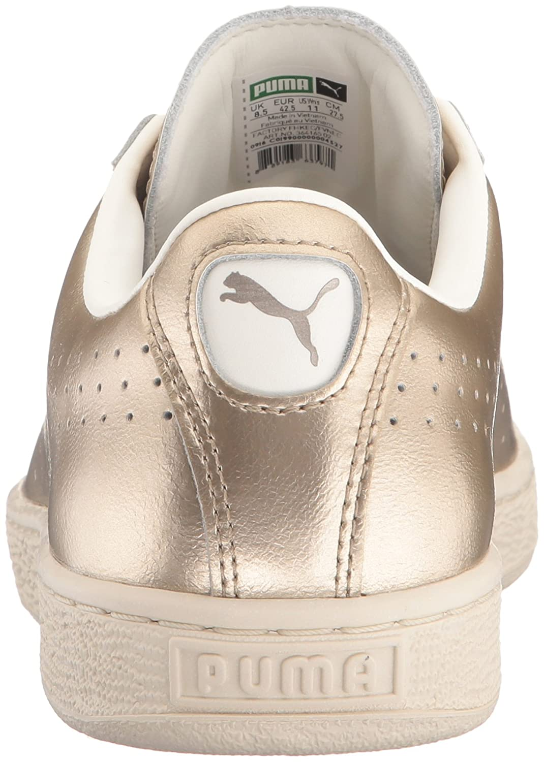 PUMA Women's Basket Classic Citi Metallic 5.5 WN's Fashion Sneaker B01J152GVA 5.5 Metallic M US|Silver Gold-whisper 50bb42