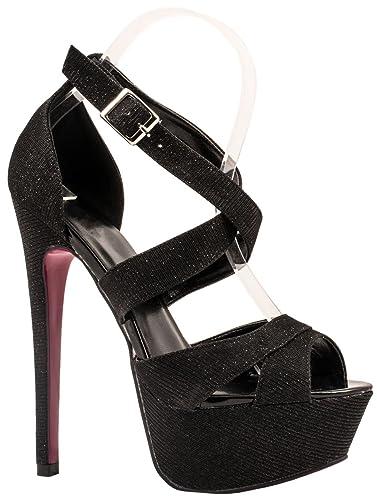 0e0318ffaa0b Elara Women s Pumps Party Plateau Stiletto  Amazon.co.uk  Shoes   Bags