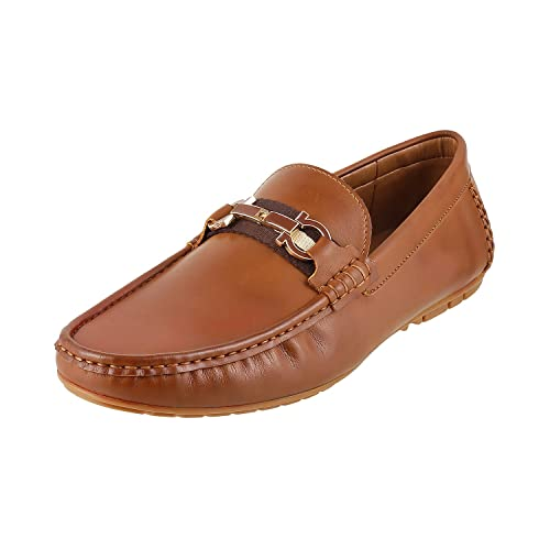 cd2822b8caf50 Mochi Men TAN Synthetic Loafers (19-9321) 19-9321-23-TAN  Buy Online at Low  Prices in India - Amazon.in