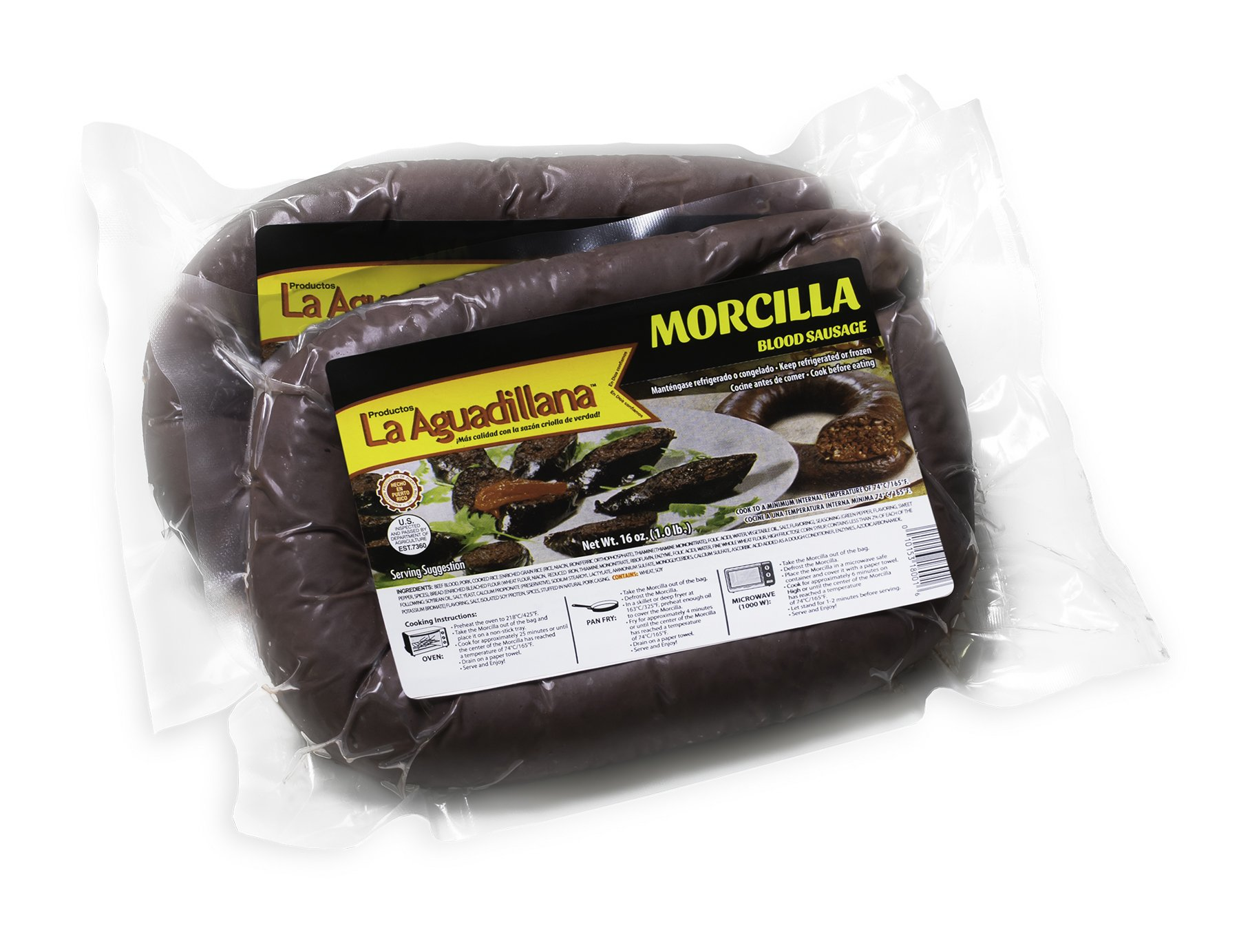 MORCILLA - Blood Sausage Puerto Rico Style - 1lb Pack (Count of 1)