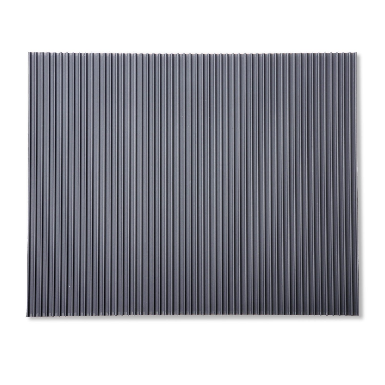 Miusco Silicone All Purpose Mat Size Large, Dish Drying, Non-Slip, Heat Resistant, 20 X 16 Inch, Grey