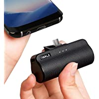 iWALK 3300mAh Portable Compact Built in USB Type-C Docking External Battery Pack Power Bank Charger For Samsung Galaxy S10 S9 S8 Huawei Sony LG Lumia Black (Upgrade)