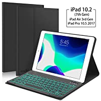 New iPad 10.2 7th Generation 2019 Keyboard Case, Boriyuan 7 Colors Backlit Detachable...