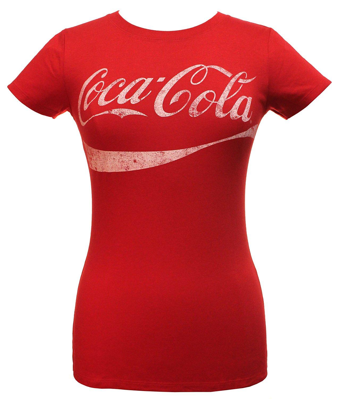Coca-Cola Juniors Classic Coke Logo Graphic Tee, Red, Large