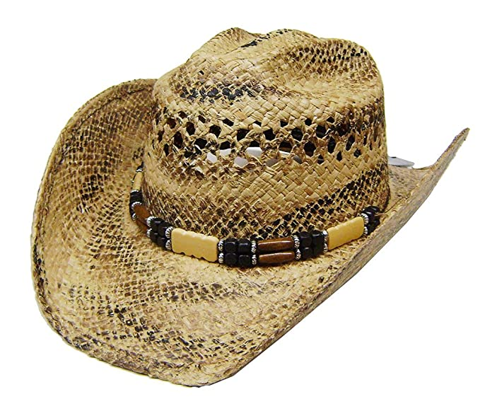 8d2a121c85238 Image Unavailable. Image not available for. Colour  Modestone Unisex Cool Straw  Cowboy Hat Light Yellow Black