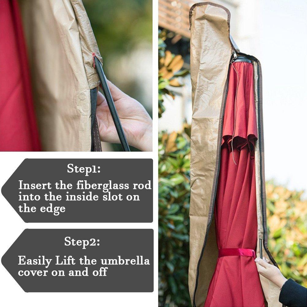 Abba Patio Outdoor Market Patio Umbrella Cover for 7-11 Ft Umbrella, Water Resistant, Beige by Abba Patio (Image #2)