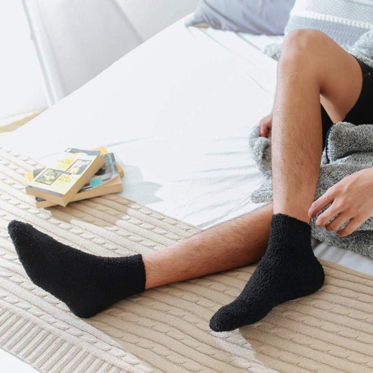 LERTREE 5 Pairs Womens Fuzzy Socks Soft Winter Warm Solid Socks for Ladies