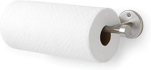 Kitchen Paper Towel Rack Wall Mount Vertical Tissue Roll Holder