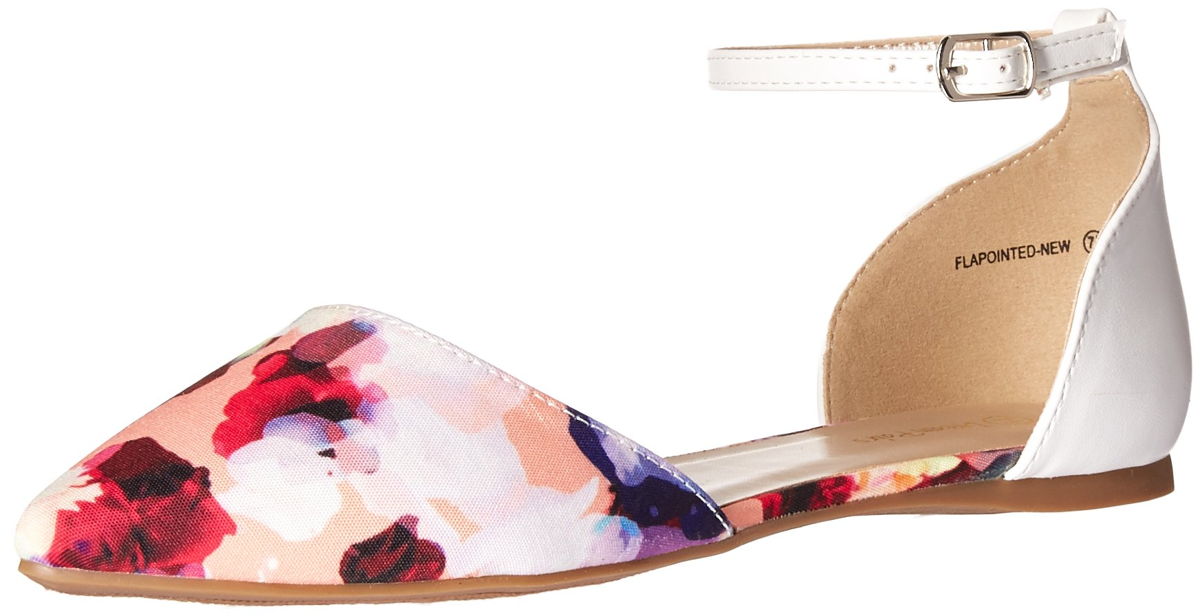 DREAM PAIRS Women's Flapointed-New Pump, Floral White, 8.5 M US