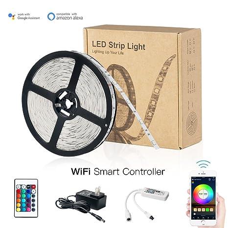 LED Strip Lights, Spbang Wifi Wireless Smart Phone App Controlled LED Lights Strip Kits 16.4