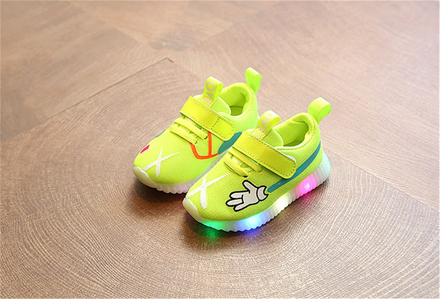 xiaoyang Fashion Cute Children Casual Shoes LED Lighting Kids Sneakers Lovely Glowing Boys Girls Shoes