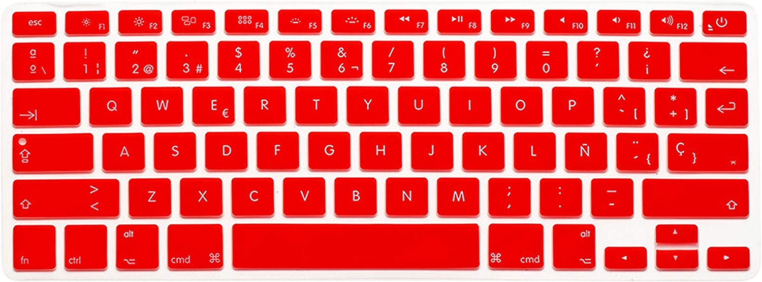 for MacBook Air Pro Retina 13 15 Silicon Black Keyboard Skin Cover Us ES Spain Spanish Laptop Keypad Protector Film-Gold