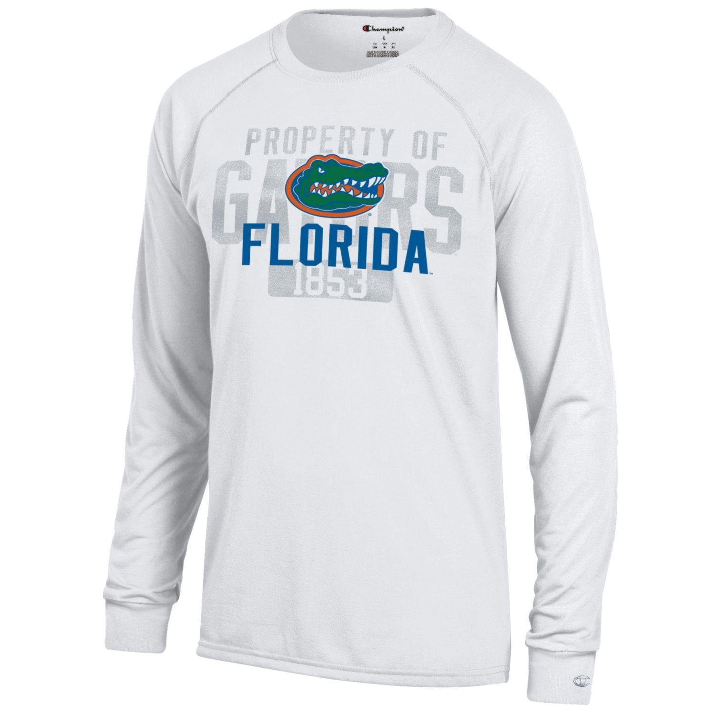 Champion NCAA Mens Long Sleeve Lightweight T-shirt Officially Licensed 100/% Cotton Tagless Tee Florida Gators Medium