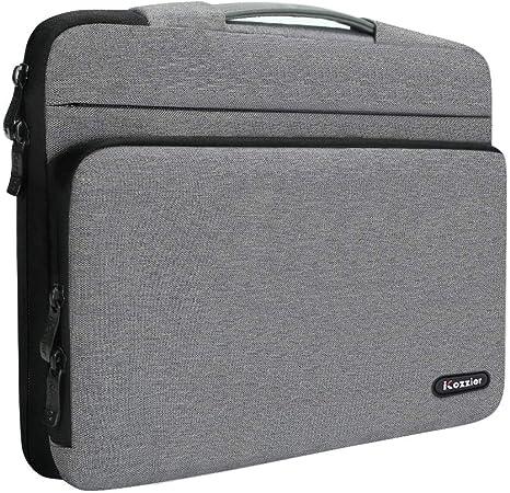 Icozzier 13 13 3 Zoll Große Seitentasche Laptop Schutzhülle Aufbewahrungstasche Für 13 Macbook Air Macbook Pro Notebook Grau Koffer Rucksäcke Taschen