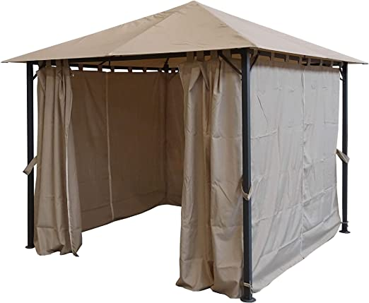Quick-Star Metal jardín Carpa Niza 3 x 3 m Antiguo pérgolas Arena con 4 Laterales: Amazon.es: Jardín