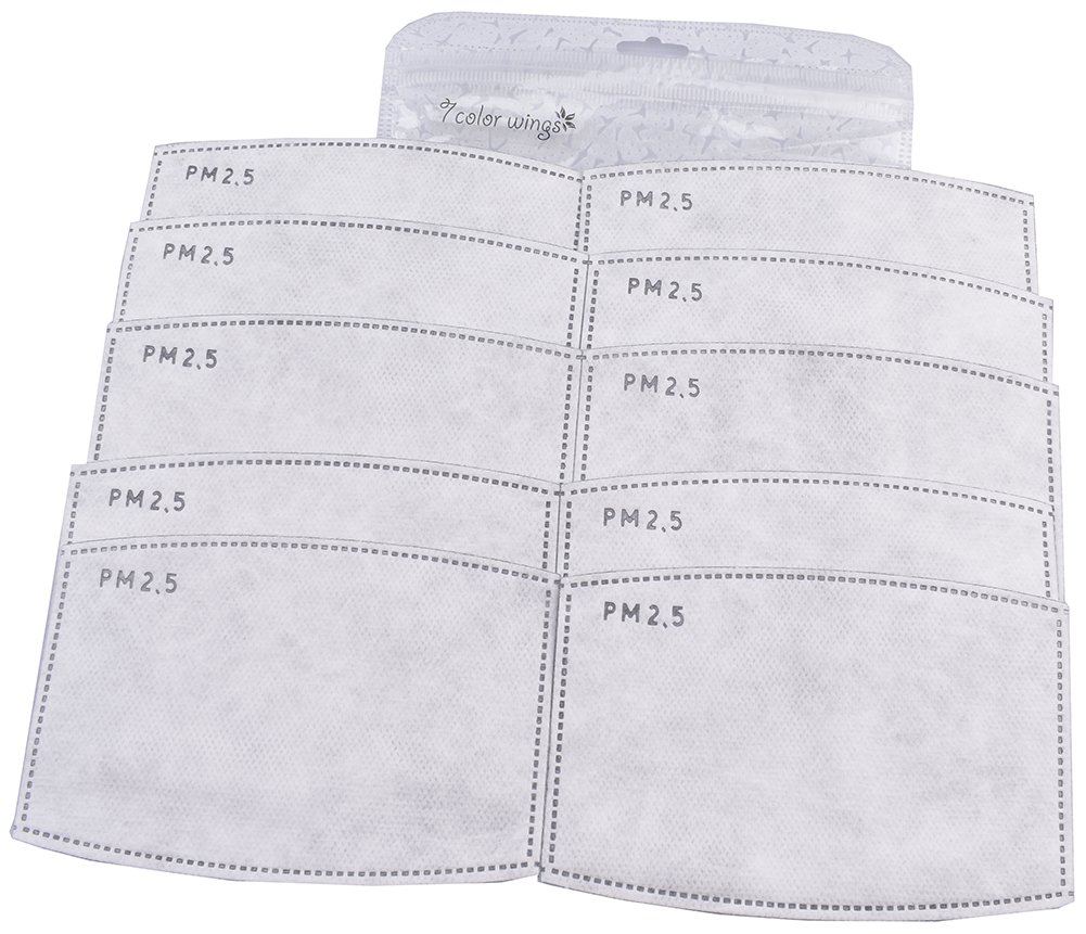 7 COLOR WINGS Adulte 5 Couches PM2.5 N95 Filtre à Charbon Actif Insertion Filtre filtrant Insert (20)