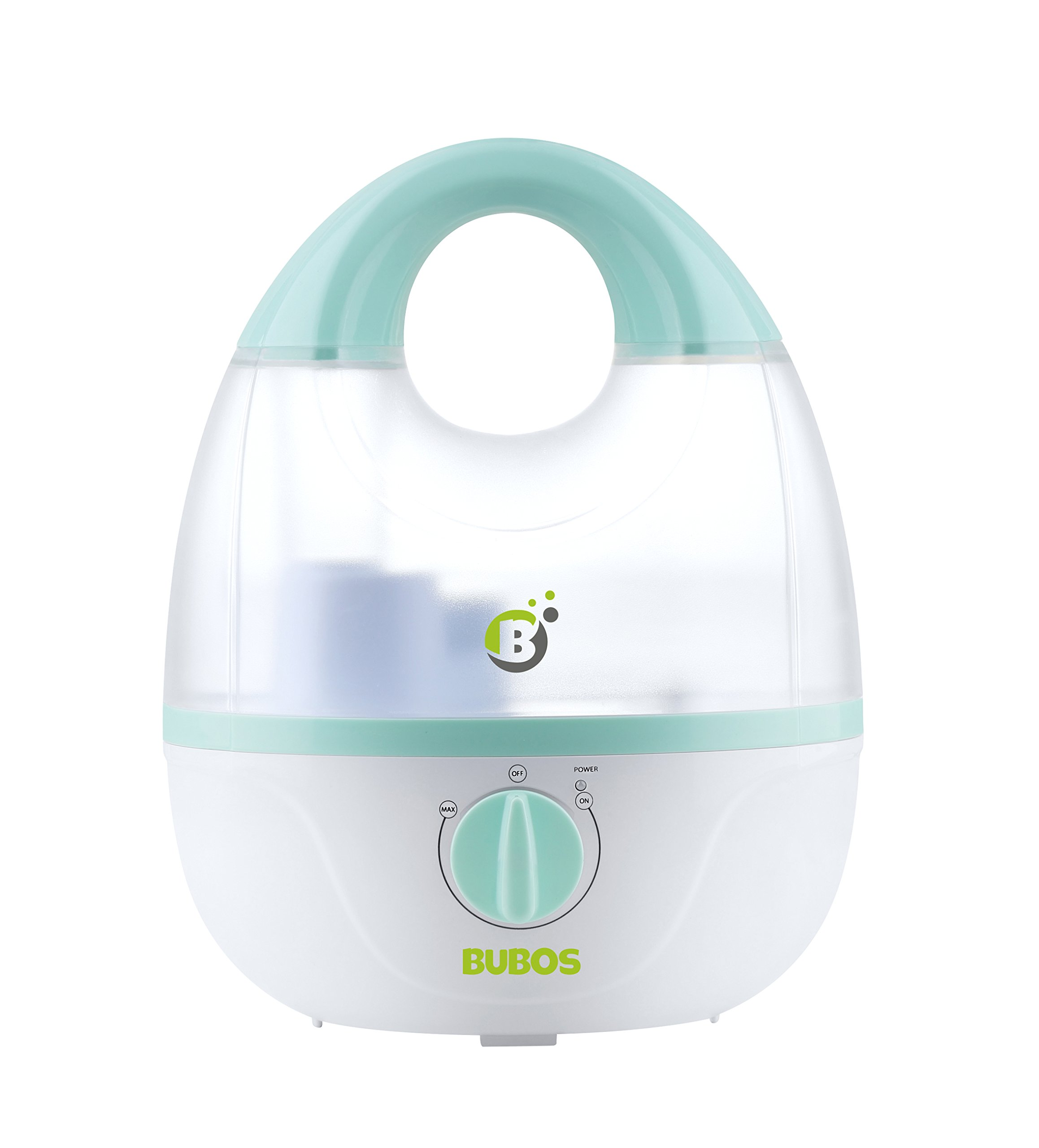 Bubos Ultrasonic Cool Mist Humidifier - Whisper-Quiet Operation, Adjustable Mist Output, 1.8L Capacity Vaporizer for Home Bedroom Baby Room or Office