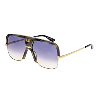 Gucci Gafas de Sol GG0478S GREYGREY Shaded Hombre: Amazon.es ...