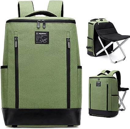 BenchMart Multifonction Voyage Chaise Haute qualité Chaise de pêche 20–35L Portable Tabouret Pliant Sac à Dos Voyage d'escalade en Plein air
