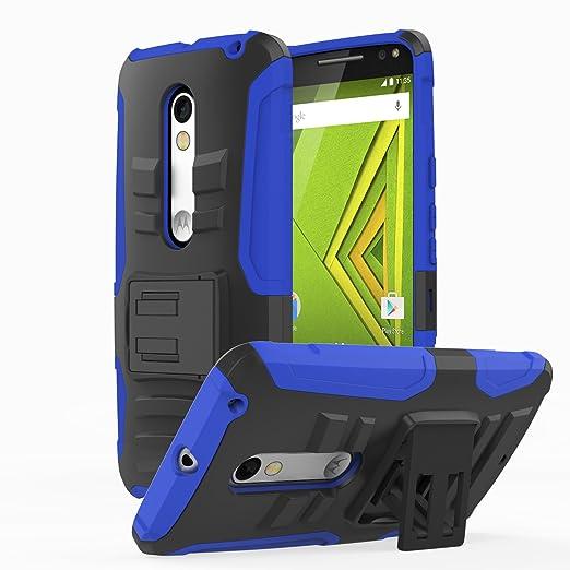 8 opinioni per MoKo Motorola Moto X Play Case- Holster Cover con supporto integrato con clip e
