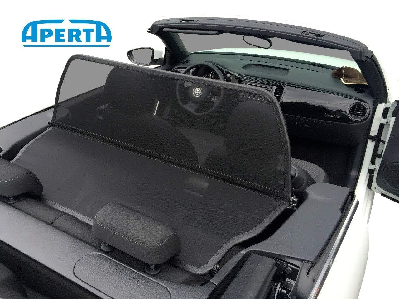 Aperta Black Wind Deflector Compatible with Volkswagen Beetle,K/äfer 5C7 Tailor Made Windblocker Draft-Stop Windstopper Volkswagen Convertible