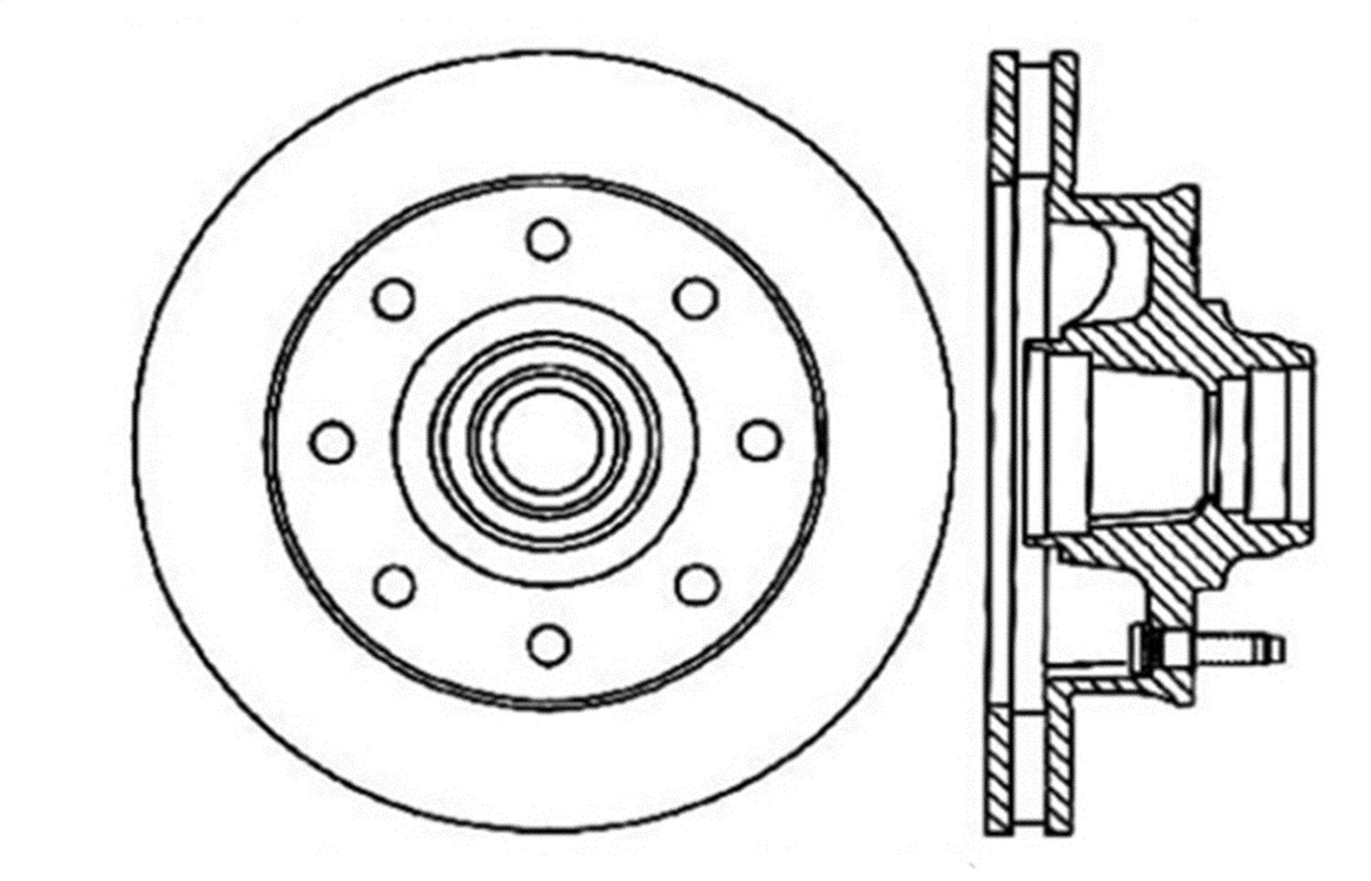 1 Pack StopTech 127.66027R Sport Drilled//Slotted Brake Rotor Front Right