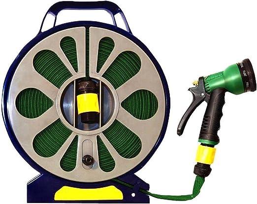Green Blade - Manguera Plana con difusor de Spray (15 m, en Bobina fácilmente Enrollable, 7 Funciones): Amazon.es: Jardín
