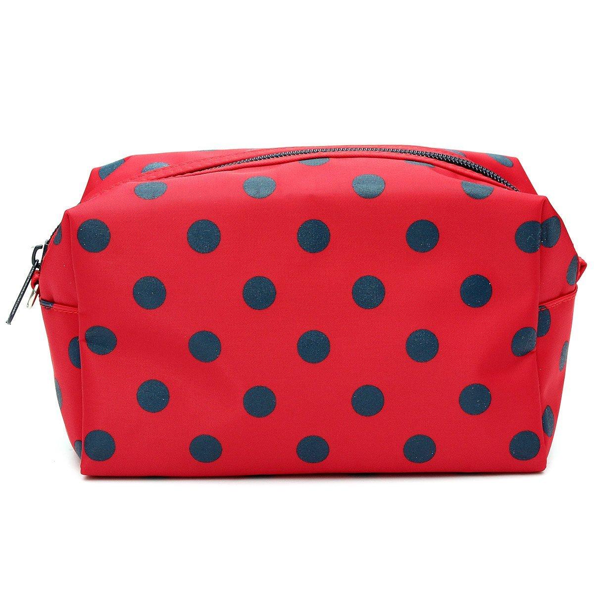 SODIAL(R) rosso cosmetico / Trucco / Organizer Hand Case Zipper TOOGOO(R)