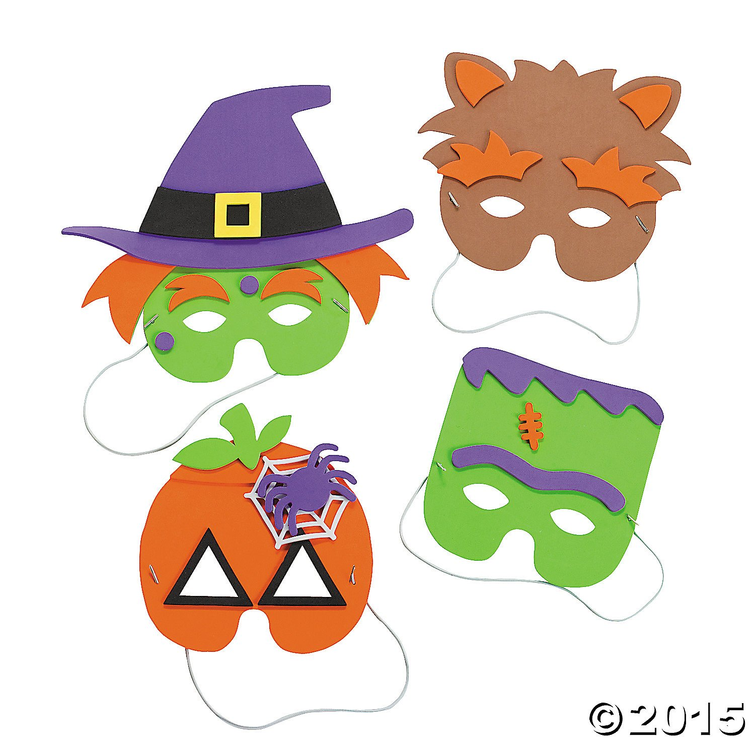 Halloween Mask Craft Kit - Crafts for Kids and Hats Masks, 1 dozen Assorted Masks