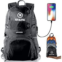 Totalpac Lightweight Foldable Packable Backpack Daypack - Perfect Traveling, Camping, Small Hiking Backpack -This Ultralight Light Backpack Great for Travel, Gear Bags & daypacks for Men Women Kids