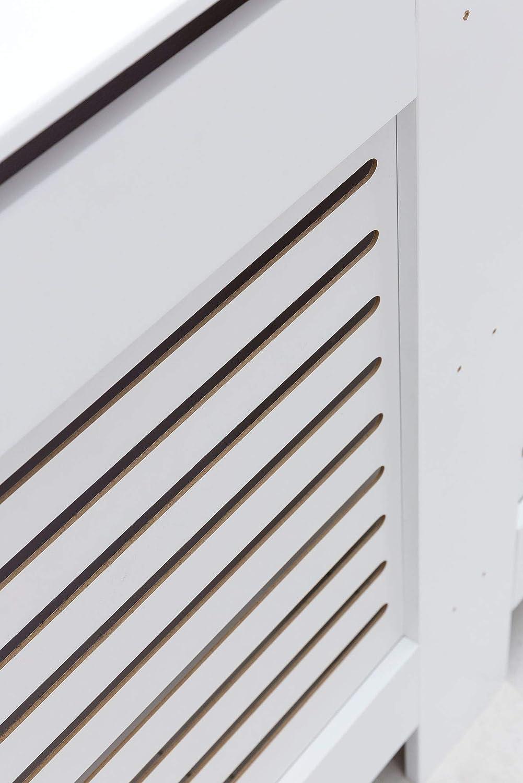 Madera, tama/ño Grande Cubierta para radiador Color Blanco WOHNLING WL5.746