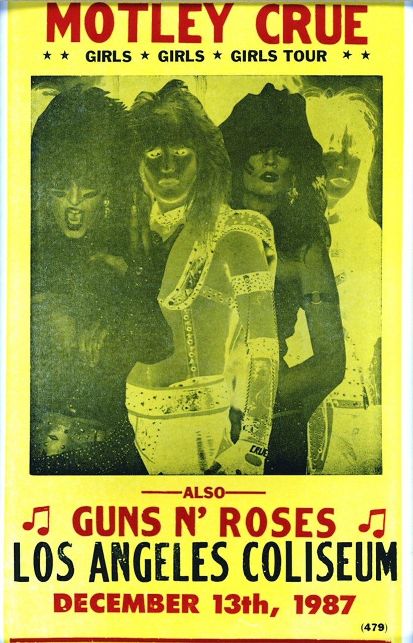 Amazoncom Motley Crue At Los Angeles Coliseum   X - Los angeles posters vintage