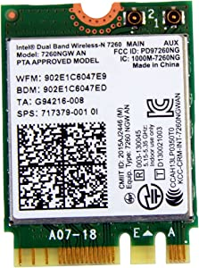 HP 717379-001 Intel Dual Band Wireless-N 7260AN 802.11 a/b/g/n (2x2) combination WiFi and BlueTooth 4.0 WLAN module