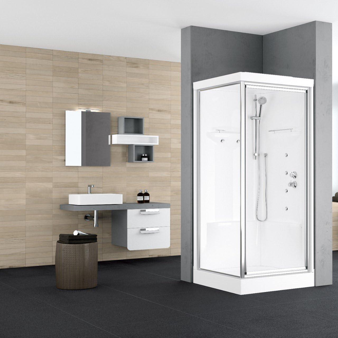 Mampara de ducha multifunción Alba Novellini 120 x 80: Amazon.es ...